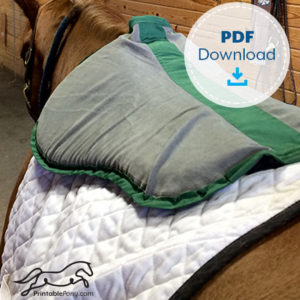 The Printable Pony Half Pad Pattern