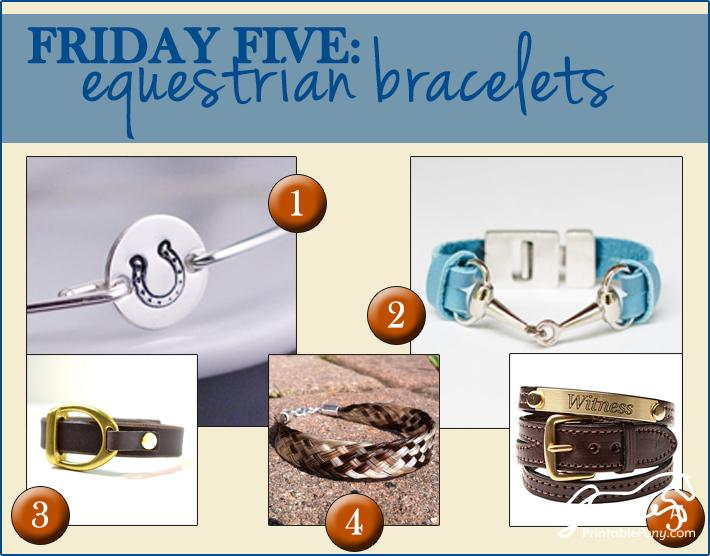 Friday Five Equestrian Bracelets The
