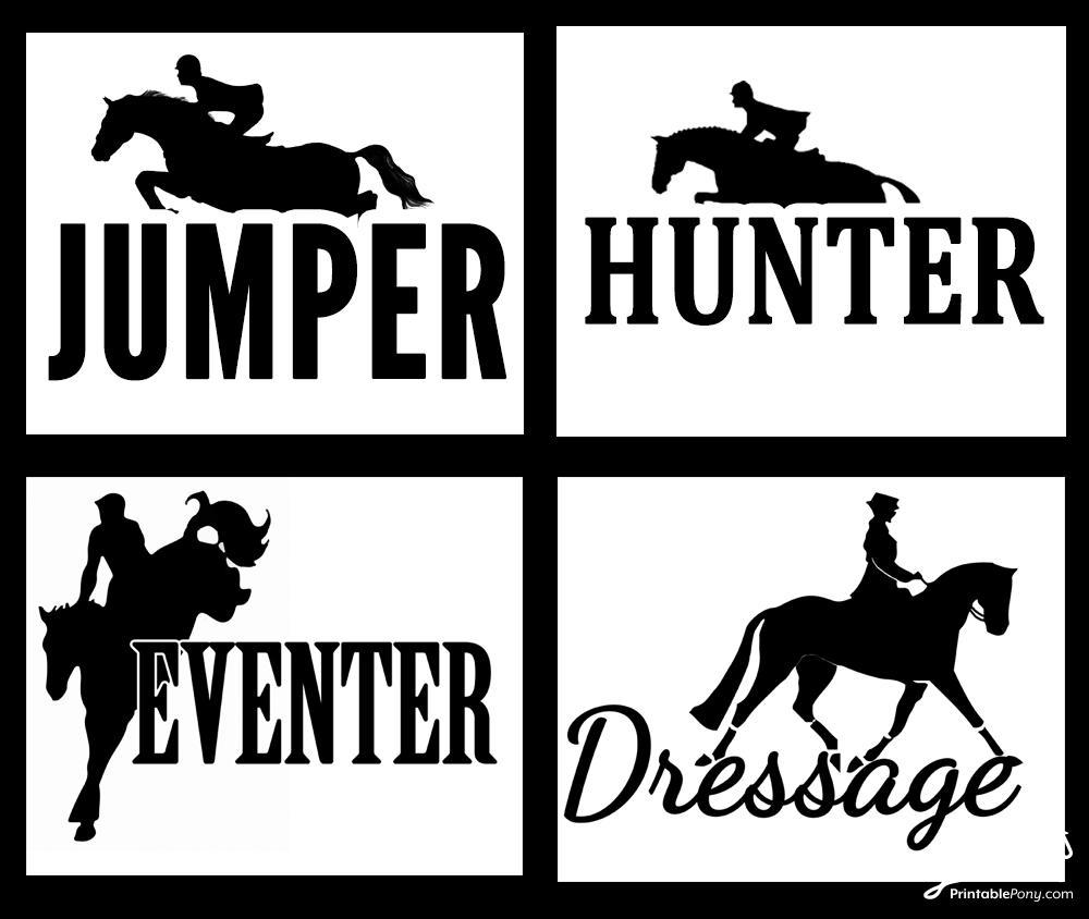 Equestrian Art Printables from FlyOnOverEq.com