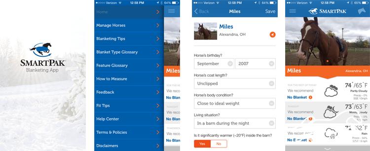 SmartBlanket Free Horse App Screenshots