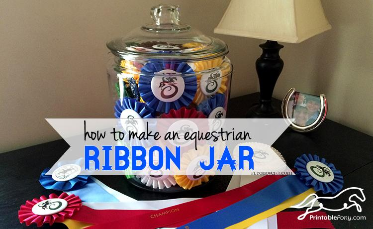 How to Make an Equestrian Ribbon Jar by FlyOnOverEq.com