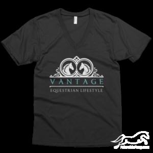 vantage equestrian logo tee