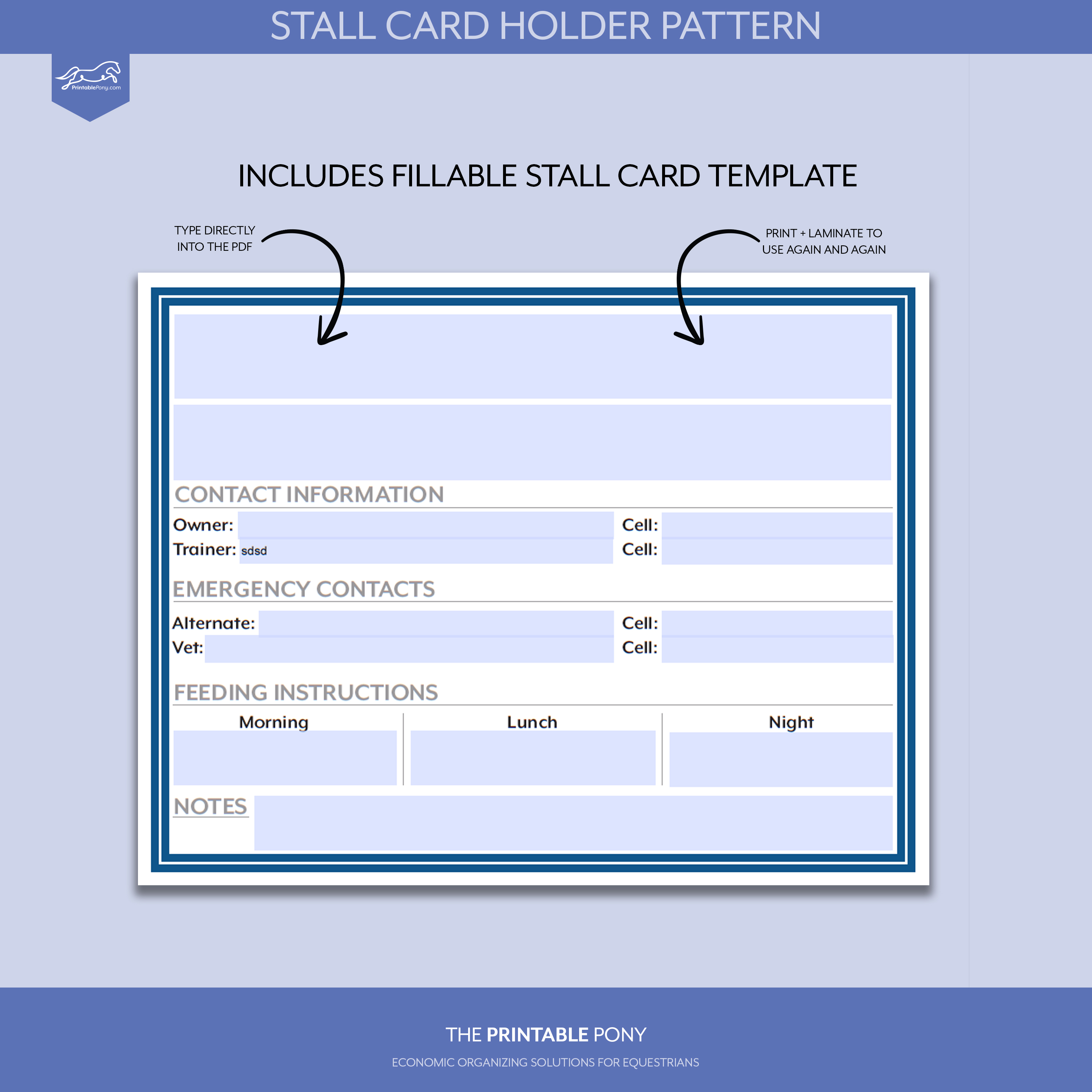stall card holder pattern printable stall card the