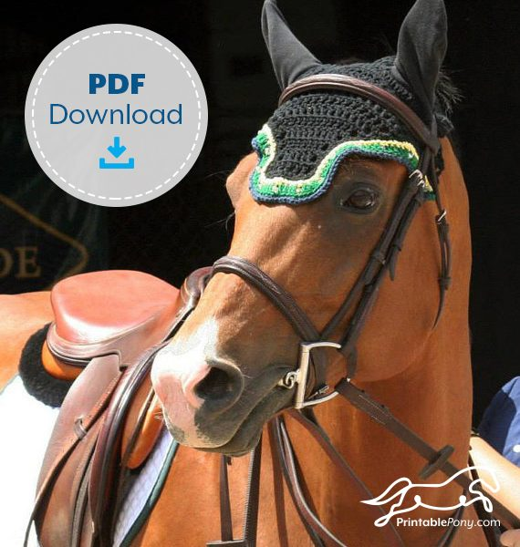 The Printable Pony Crochet Fly Bonnet Pattern Featured Image