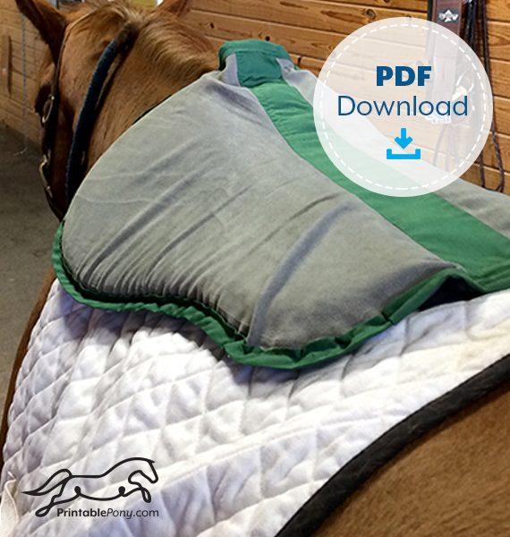 The Printable Pony Half Pad Pattern