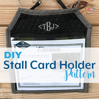 DIY Stall Card Holder Pattern by The Printable Pony