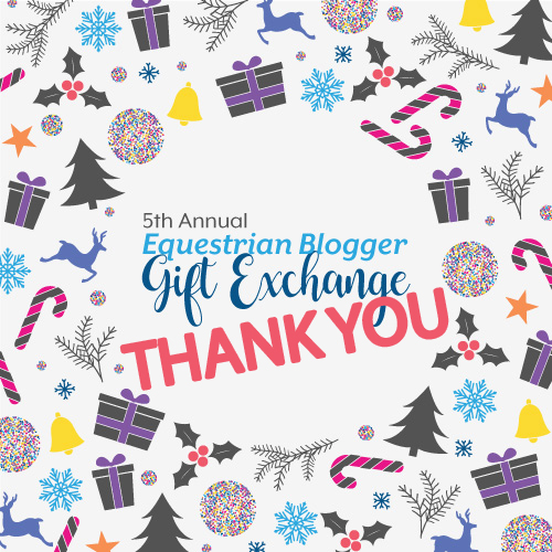 5th Annual Equestrian Blogger Gift Exchange Thank You