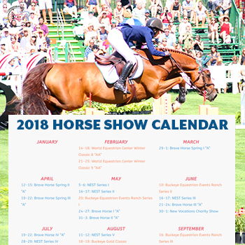 2018 Horse Show Calendar